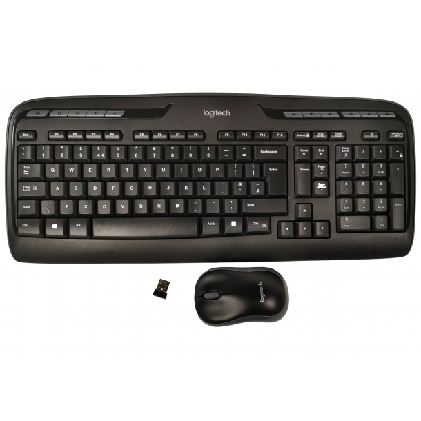 Logitech MK330 Wireless Keyboard & Mouse Set with Media Shortcuts