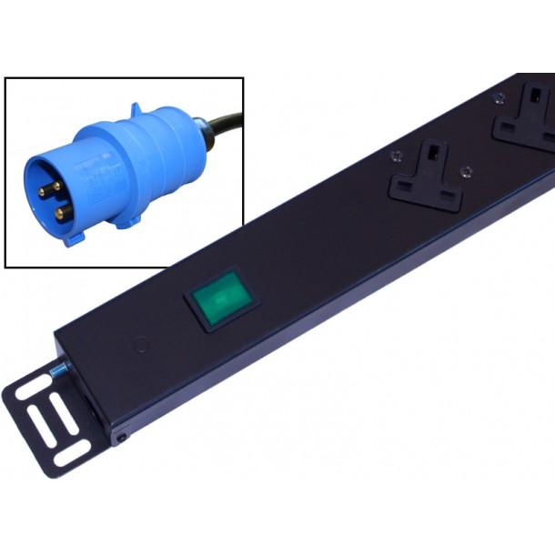 UK 13A Vertical 0U PDU Right Hand Sockets