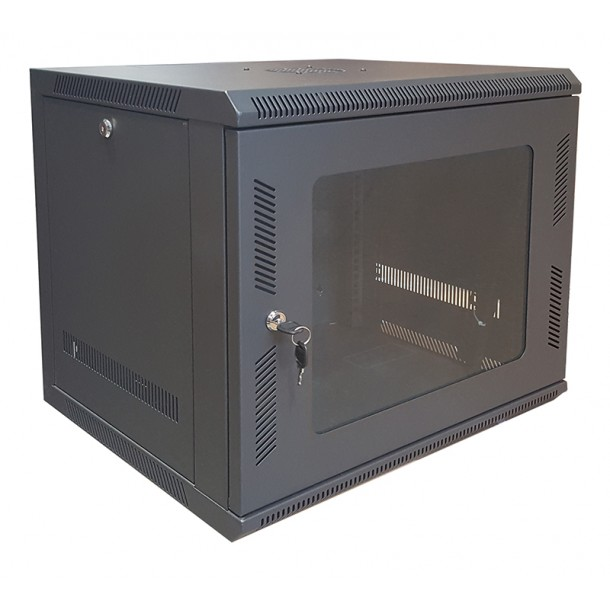 19 Inch Rack in a Sturdy Wall Mounted Cabinet
